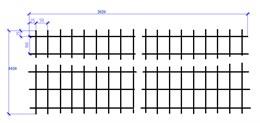 Сетка оцинкованная 3х1020х2020  (100х50) ШТ